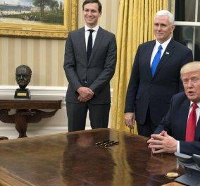 Ο Ντόναλντ Τραμπ άλλαξε τις μπορντό κουρτίνες και έβαλε χρυσές - Δείτε τις πρώτες αλλαγές στον Λευκό Οίκο  - Κυρίως Φωτογραφία - Gallery - Video