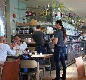 Αποκλειστικό: Η Πίπα Μίντλεντον στον φακό του Eirinika την ώρα που πίνει τον καφέ της με άγνωστο κύριο   - Κυρίως Φωτογραφία - Gallery - Video