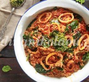 Απίθανα καλαμαράκια γιουβέτσι με πέστο μαϊντανού με συνταγή της Ντίνας Νικολάου - Κυρίως Φωτογραφία - Gallery - Video