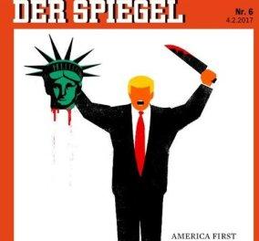Eξώφυλλο Spiegel: O Τραμπ ως άλλος τζιχαντιστής με θύμα την Ελευθερία   - Κυρίως Φωτογραφία - Gallery - Video