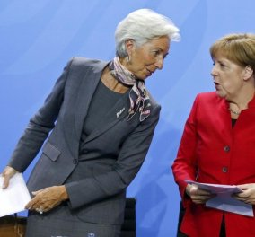 """Και τώρα οι δυό μας χρυσή μου για lunch με μενού """"Ελλάδα"""" - Η κρίσιμη συνάντηση Μέρκελ - Λαγκάρντ στο Βερολίνο - Κυρίως Φωτογραφία - Gallery - Video"""