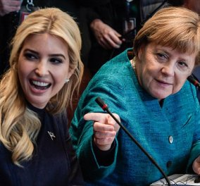 Φώτο: Όταν η Μέρκελ κοίταξε με θαυμασμό την όμορφη Ιβάνκα Τραμπ και μίλησαν... Γαλλικά οι δυο κυρίες  - Κυρίως Φωτογραφία - Gallery - Video