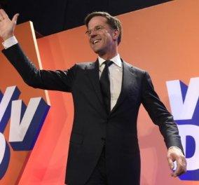 Η Ευρώπη ανάσανε: Καθαρή και ηχηρή νίκη Ρούτε στην Ολλανδία - Ήττα της ακροδεξιάς - 4 κόμματα για σχηματισμό κυβέρνησης  - Κυρίως Φωτογραφία - Gallery - Video
