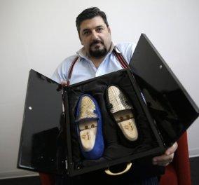 Έβαλε στοίχημα! Τελικά πουλάει παπούτσια 25.000-30.000 ευρώ από ατόφιο χρυσό 24 καρατίων   - Κυρίως Φωτογραφία - Gallery - Video