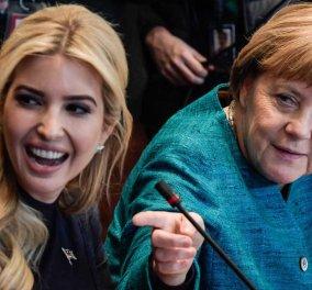 Δίπλα- δίπλα η Άνγκελα Μέρκελ με την Ιβάνκα Τραμπ- Η αρχή μιας φιλίας;  - Κυρίως Φωτογραφία - Gallery - Video