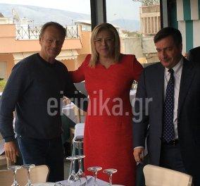 """ΑΠΟΚΛΕΙΣΤΙΚΟ: O Πρόεδρος Ευρ. Συμβουλίου Τουσκ, με σπορ outfit, σε τυχαία συνάντηση με Επίτροπο Κρέτσου και Καμίνη στη """"Στροφή"""" - Κυρίως Φωτογραφία - Gallery - Video"""