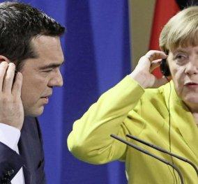 """Μέρκελ καθησυχάζει Τσίπρα: """"Εγώ είμαι εδώ, θα βρούμε λύση για το ελληνικό ζήτημα"""" - Κυρίως Φωτογραφία - Gallery - Video"""