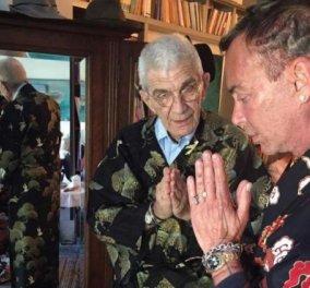 Ο Γιάννης Μπουτάρης στο πλάι του Λάκη Γαβαλά φορώντας... πολύχρωμο κιμονό! - Κυρίως Φωτογραφία - Gallery - Video