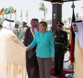 Η επίσκεψη της Μέρκελ στη Σαουδική Αραβία -Γιατί δεν έβαλε μαντίλα - Κυρίως Φωτογραφία - Gallery - Video