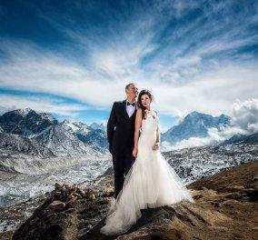 Επικές φωτογραφίες ερωτευμένου ζεύγους: Παντρεύτηκε στο Έβερεστ μετά από 3 εβδομάδες ανάβασης - Κυρίως Φωτογραφία - Gallery - Video