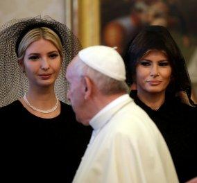 Μαύρο βέλο για Ιβάνκα & Μελάνια στο Βατικανό- Το dress code των δύο κυριών μπροστά στον Πάπα - Κυρίως Φωτογραφία - Gallery - Video