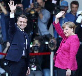 Φώτο- Βίντεο από την πρεμιέρα Μακρόν- Μέρκελ: Η Ευρωζώνη θέλει φρέσκο χρήμα για ιδιωτικές & δημόσιες επενδύσεις - Κυρίως Φωτογραφία - Gallery - Video