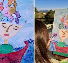 Τοp mini woman 8χρονη μαθήτρια: Ζωγράφισε την Ευρώπη όπως την ονειρεύεται και βραβεύτηκε - Κυρίως Φωτογραφία - Gallery - Video