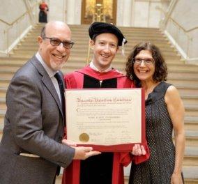 Good news: Μετά από 12 χρόνια ο Μαρκ Ζούκερμπεργκ πήρε το πτυχίο του από το Χάρβαρντ!- Το Fb & η γυναίκα του - Κυρίως Φωτογραφία - Gallery - Video