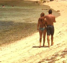 Survivor: Τα ρομαντικά, τρυφερά πλάνα Βαλαβάνη- Βασάλου στην παραλία -Φώτο - Κυρίως Φωτογραφία - Gallery - Video