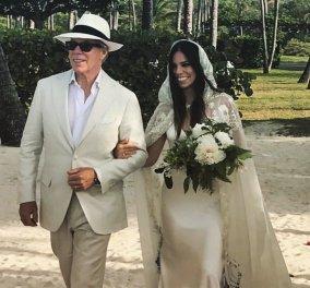 Mε boho νυφικό παντρεύτηκε η κόρη του Tommy Hilfiger: Όλο από μετάξι με φλοράλ κεντήματα και διάφανη κάπα - Κυρίως Φωτογραφία - Gallery - Video