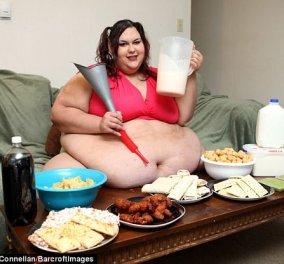 Story of the day: 28χρονη 300 κιλών έμεινε έγκυος 3η φορά & έχασε 100- Ο άντρας της την λατρεύει & την ταίζει με χωνί  - Κυρίως Φωτογραφία - Gallery - Video