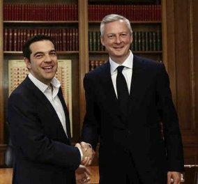 Γάλλος ΥΠΟΙΚ Λεμέρ: Συγχαρητήρια για το πολιτικό σας θάρρος κύριε Τσίπρα- Αισιόδοξος για μια καλή συμφωνία στο Eurogroup - Κυρίως Φωτογραφία - Gallery - Video