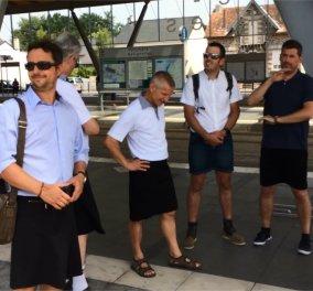 Βίντεο- Γαλλία: Με φούστες πήγαν να δουλέψουν οι οδηγοί των λεωφορείων λόγω καύσωνα! - Κυρίως Φωτογραφία - Gallery - Video