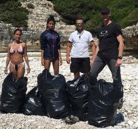 Καταπληκτικό & θλιβερό: Ο Γουίλ Σμιθ και τα παιδιά του μάζεψαν τα σκουπίδια από παραλίες των Αντιπαξών - Κυρίως Φωτογραφία - Gallery - Video