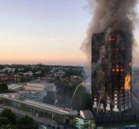Live: Δείτε την μεγάλη φωτιά στον 24όροφο πύργο του Λονδίνου - Υπάρχουν νεκροί - Κυρίως Φωτογραφία - Gallery - Video