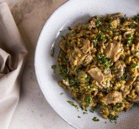 Μαγειρεύουμε υγιεινά: Σταρότο με κοτόπουλο και μανιτάρια από τον Άκη Πετρετζίκη - Κυρίως Φωτογραφία - Gallery - Video