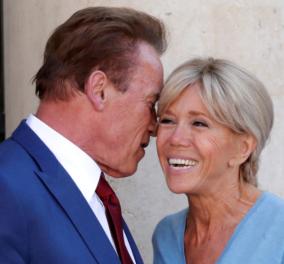 Πανικός στους παπαράτσι: Ο Σβαρτσενέγκερ φιλάει σταυρωτά την Μπριζίτ Μακρόν & εκείνη μέσα στην καλή χαρά (Φωτό-Βίντεο) - Κυρίως Φωτογραφία - Gallery - Video