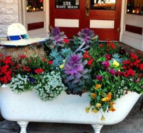 Διακοσμήστε πρωτότυπα τον κήπο σας με παλιά αντικείμενα μπάνιου! - Κυρίως Φωτογραφία - Gallery - Video