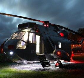 Το ελικόπτερο του Ναυτικού μετατράπηκε σε χλιδάτο 5αστερο ξενοδοχείο για ρομαντικά ζευγάρια (ΦΩΤΟ-ΒΙΝΤΕΟ) - Κυρίως Φωτογραφία - Gallery - Video