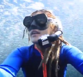 Selfie video! Μια τολμηρή γυναίκα βιντεοσκόπησε τον εαυτό κολυμπώντας σε ένα κοπάδι χιλιάδων ψαριών - Κυρίως Φωτογραφία - Gallery - Video