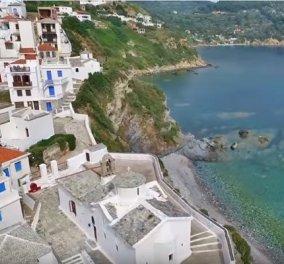 Πετάμε για Σκόπελο; Από ψηλά το καταπράσινο νησί των Σποράδων με τις δαντελωτές σμαραγδί παράλιες (ΒΙΝΤΕΟ) - Κυρίως Φωτογραφία - Gallery - Video