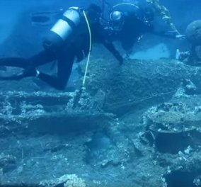 Tο βομβαρδιστικό «Martin Baltimore» του Β΄Παγκοσμίου Πολέμου στην θάλασσα της Ικαρίας (ΒΙΝΤΕΟ) - Κυρίως Φωτογραφία - Gallery - Video