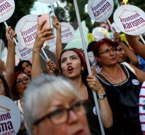 """""""Θα φοράω σορτς Μην Ασχολείσαι με το Ντύσιμό μου» - Οι γυναίκες στην Κωνσταντινούπολη διαδηλώνουν - Κυρίως Φωτογραφία - Gallery - Video"""