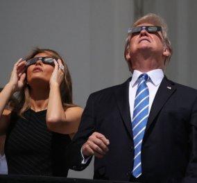 Διάσημοι με γυαλιά στην έκλειψη του ηλίου: Ιβάνκα Τραμπ, γιος Πρίγκιπα Παύλου, Γκουίνεθ Πάλτροου, Σάρον Στόουν - Κυρίως Φωτογραφία - Gallery - Video