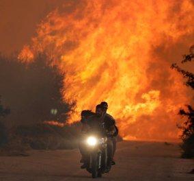 Συγκλονιστική φωτογραφία από τη φωτιά στον Κάλαμο   - Κυρίως Φωτογραφία - Gallery - Video