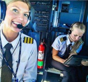 """Οι γυναίκες κατακτούν τους αιθέρες: όμορφες, πολυτάλαντες, υπερδραστήριες έγιναν πιλότοι για την """"τρέλα"""" – φωτό - Κυρίως Φωτογραφία - Gallery - Video"""