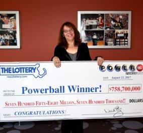 Top Woman η πιο τυχερή νοσοκόμα του κόσμου: Κέρδισε 758 εκ. δολάρια το μεγαλύτερο ποσό στην ιστορία του Powerball - Κυρίως Φωτογραφία - Gallery - Video