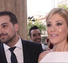 Φωτογραφίες: ο Γαβριήλ Σακελλαρίδης και η δημοσιογράφος Ράνια Τζίμα βάφτισαν την κόρη τους - Κυρίως Φωτογραφία - Gallery - Video