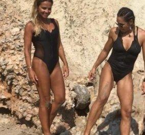 Βίντεο: η Ελένη Πετρουλάκη και η Σόφη Πασχάλη κάνουν yoga σε παραλία της Κρήτης - Κυρίως Φωτογραφία - Gallery - Video