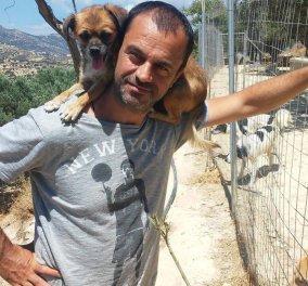 Θεόκλητος Προεστάκης: ο νέος άντρας που ζει στην Κρήτη παρέα με διακόσια πενήντα σκυλιά - Κυρίως Φωτογραφία - Gallery - Video