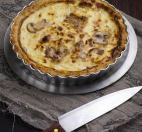 Πρωτότυπη γκουρμέ τάρτα με μανιτάρια σοτέ, κατσικίσιο τυρί και λάδι λευκής τρούφας - ο Γιάννης Λουκάκος μας λέει  - Κυρίως Φωτογραφία - Gallery - Video
