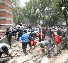 325 νεκροί από τον φονικό σεισμό στο Μεξικό - Λιγοστές οι ελπίδες για επιζώντες  - Κυρίως Φωτογραφία - Gallery - Video