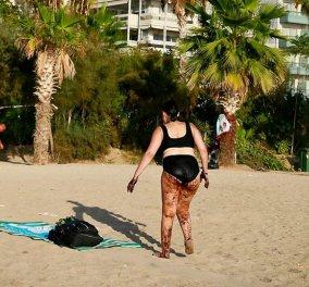 """Αυτή είναι η """"διάσημη"""" γυναίκα με την πίσσα κολλημένη πίσω της: H 38χρονη Δέσποινα μιλάει για την περιπέτεια της - Κυρίως Φωτογραφία - Gallery - Video"""