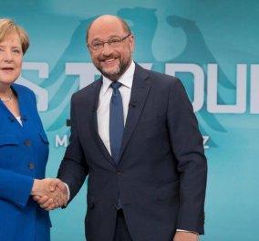 Γερμανικές εκλογές: Πιο πειστική η Μέρκελ από τον Σουλτς στην τηλεμαχία - Κυρίως Φωτογραφία - Gallery - Video