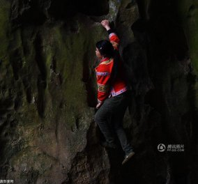 Topwoman ή crazywoman; 36 χρονών μαμά 2 παιδιών σκαρφαλώνει σε βράχο 180 μ. χωρίς σχοινιά - Κυρίως Φωτογραφία - Gallery - Video