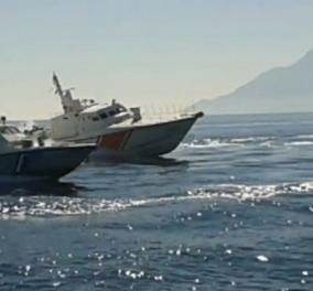 Ένταση στη Μυτιλήνη: Σκάφη της Τουρκικής Ακτοφυλακής παρεμπόδιζαν πλωτό του Λιμενικού έξω από το λιμάνι - Κυρίως Φωτογραφία - Gallery - Video