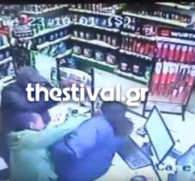 Σοκαριστικές εικόνες:  Ληστές χτυπούν με μανία υπάλληλο βενζινάδικου σε ένοπλη ληστεία στη Θεσσαλονίκη (ΒΙΝΤΕΟ) - Κυρίως Φωτογραφία - Gallery - Video