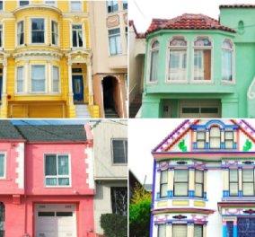 Πολύχρωμα σπίτια σαν παραμυθένια ! Μια ωραία βόλτα στο San Francisco (ΦΩΤΟ) - Κυρίως Φωτογραφία - Gallery - Video