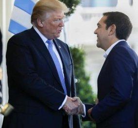 Ξεκίνησε η συνάντηση Τραμπ - Τσίπρα: «Η Ελλάδα κάνει σπουδαίο έργο για να επιστρέψει και σίγουρα θα επιστρέψει από την κρίση» - Κυρίως Φωτογραφία - Gallery - Video