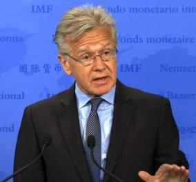 Τζέρι Ράις: Το ΔΝΤ δεν θα συμμετέχει στην αξιολόγηση αν δεν προηγηθεί ελάφρυνση του Ελληνικού χρέους - Κυρίως Φωτογραφία - Gallery - Video